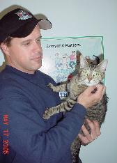 Animal Control Officer With Cat