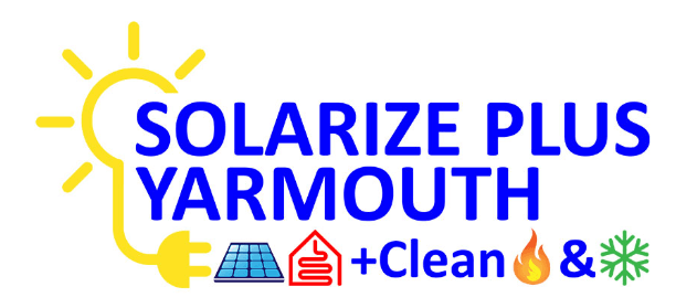 Solarize Yarmouth logo with sun, solar and home icons