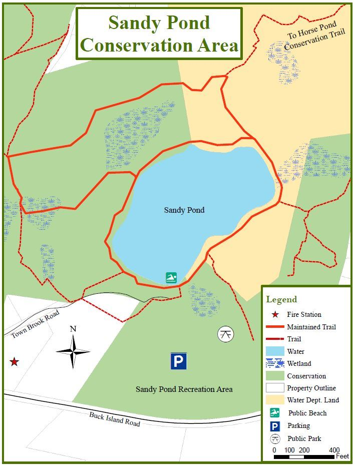 Sandy Pond Map
