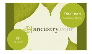 Ancestry Plus only available at the library